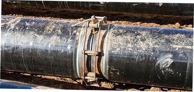 Центратор ЦЗН при фиксации трубы